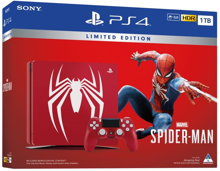 PlayStation 4 Marvel's Spider-Man + Limited Edition PS4 1TB [Bundle]